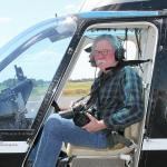 Image of Team Member Ken Chamberlain in Helicopter